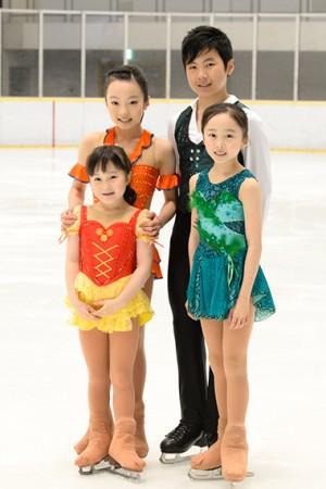 5人兄弟の長女以外はフィギュアスケート選手というスケート一家です。